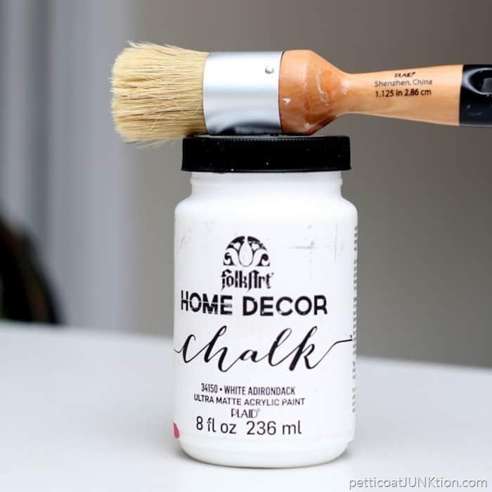 FolkArt Home Decor Chalk white matte paint