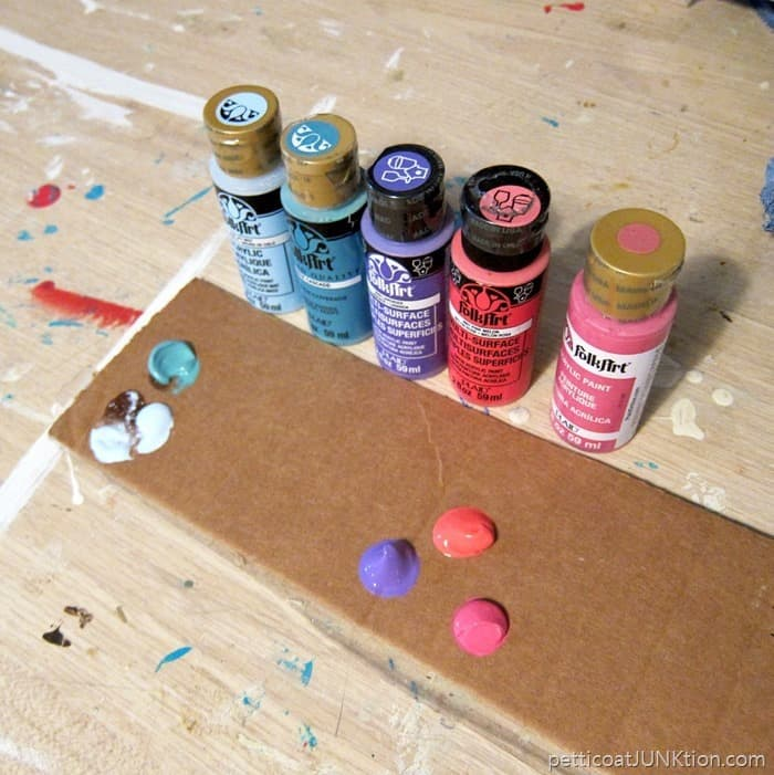 FolkArt acrylic paints for stenciling