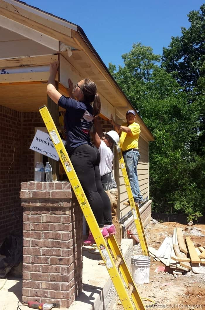 Habitat for Humanity Women Build project in Nashville 2017