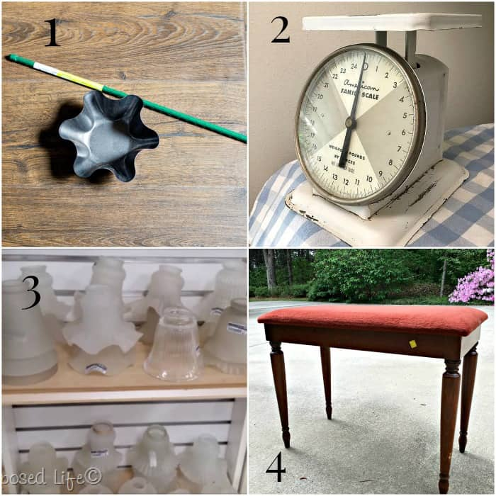 May Thrift Store Decor projects before makeovers