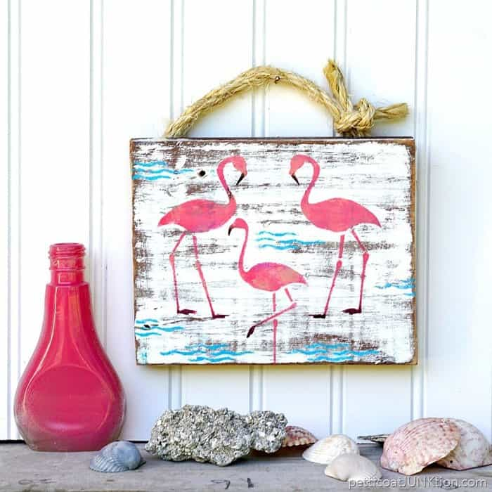 Try This Quick DIY Pink Flamingo Sign 1