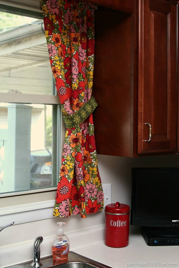 Vibrant Vintage Floral Barkcloth Curtains