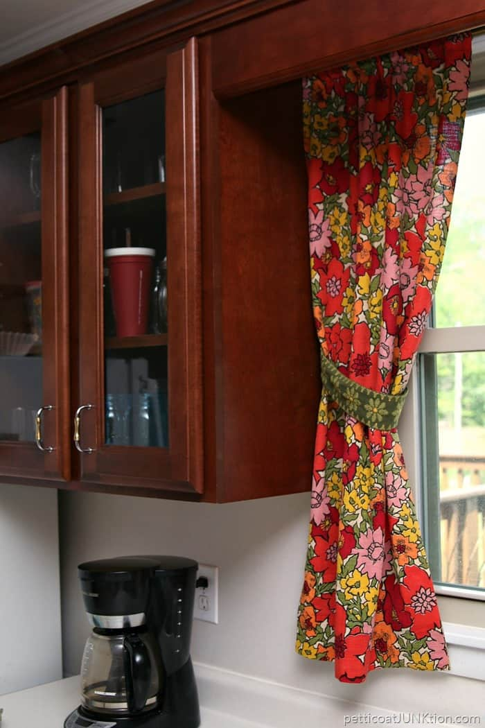 Vintage Floral Barkcloth Curtains
