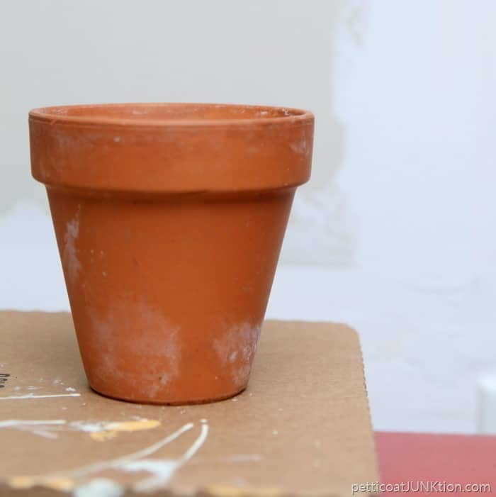 clay pot for paint project