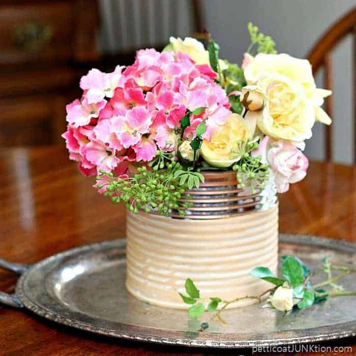 Recycle Project Glam Coffee Can Flower Vase Petticoat