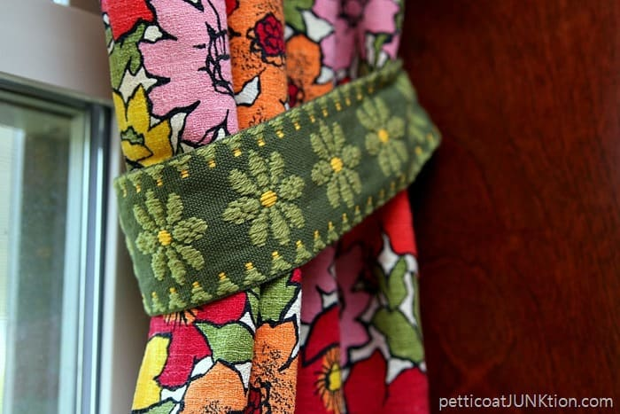 pretty fabric trim tieback