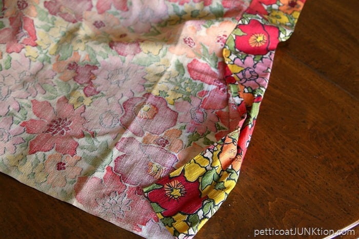 used vintage barkcloth curtain