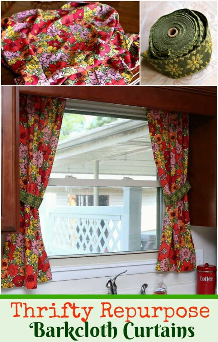 vintage barkcloth curtains