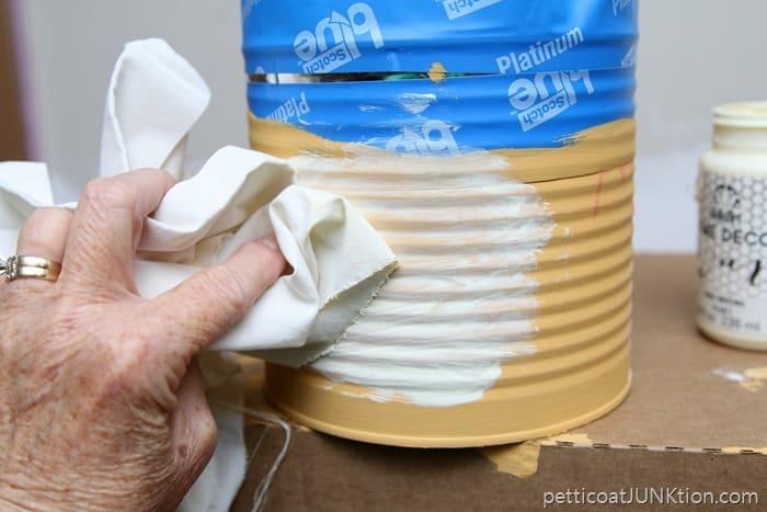 wipe wax off with soft rag