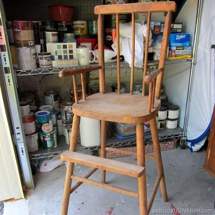 wood high chair from Metropolis Illinois Junk Shop