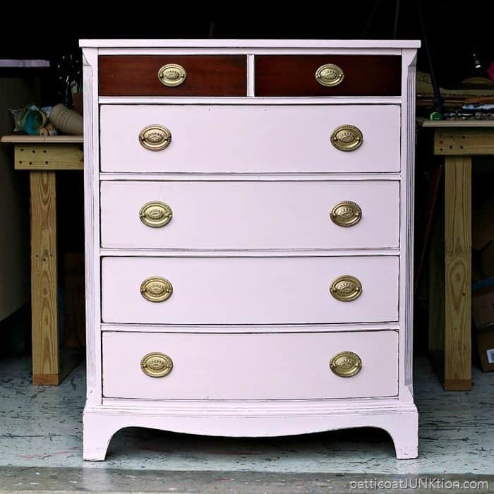 Barely Pink Furniture And A Bit Of The Original Finish