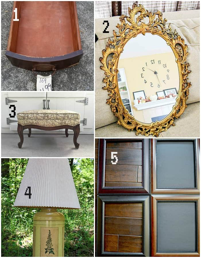 June Thrift Store Decor Makeovers before photos