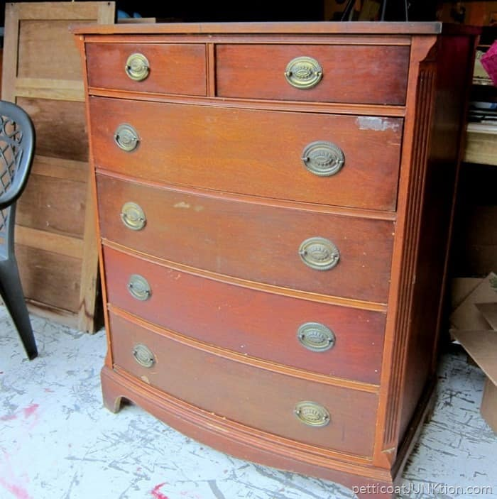 chest of drawers before makeover