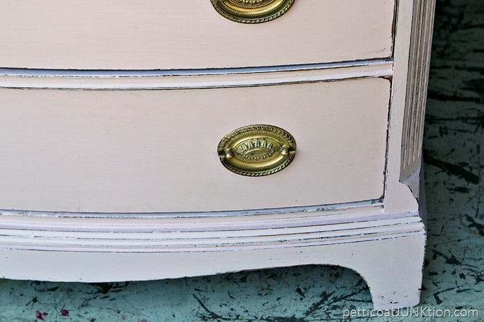 distressed paint for pretty pink chest