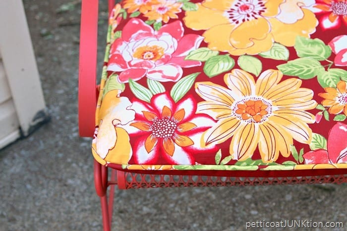 floral fabric outdoor cushion by Better Homes and Gardens