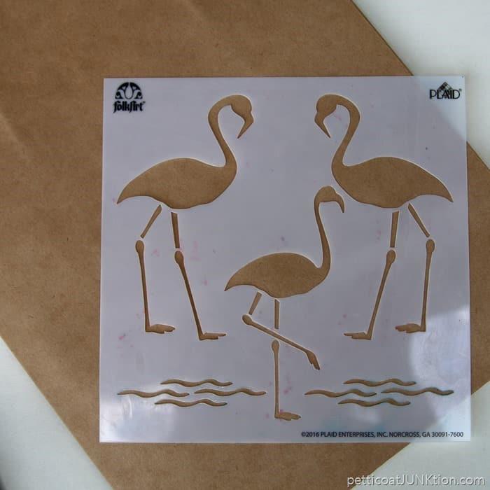Flamingo Stencil from FolkArt