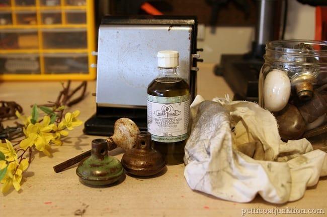 hemp oil and vintage door knobs