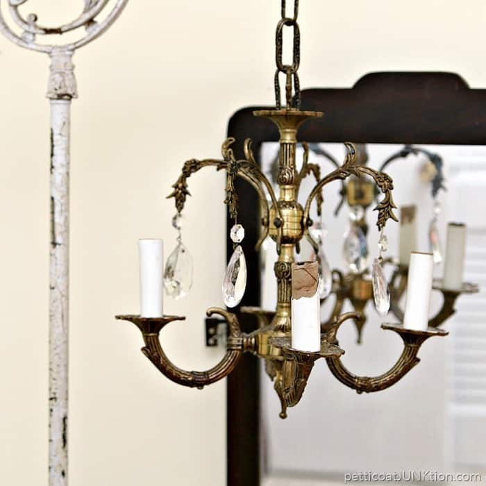 How To Display A Vintage Chandelier