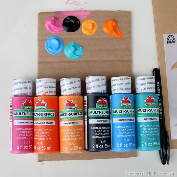 acrylic paint selection from Apple Barrel