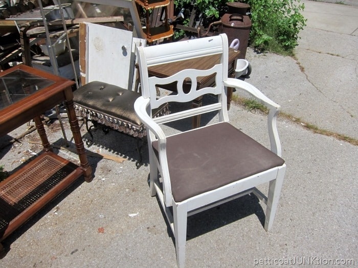 arm chair at the junk shop