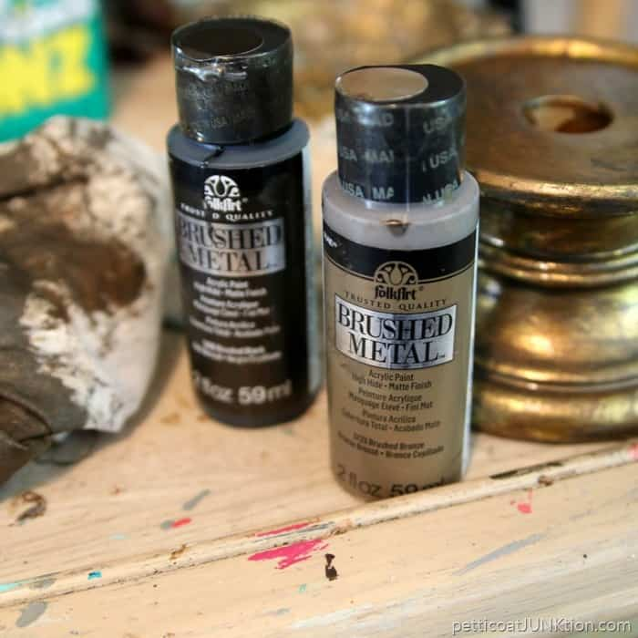 brushed metallic paints from FolkArt