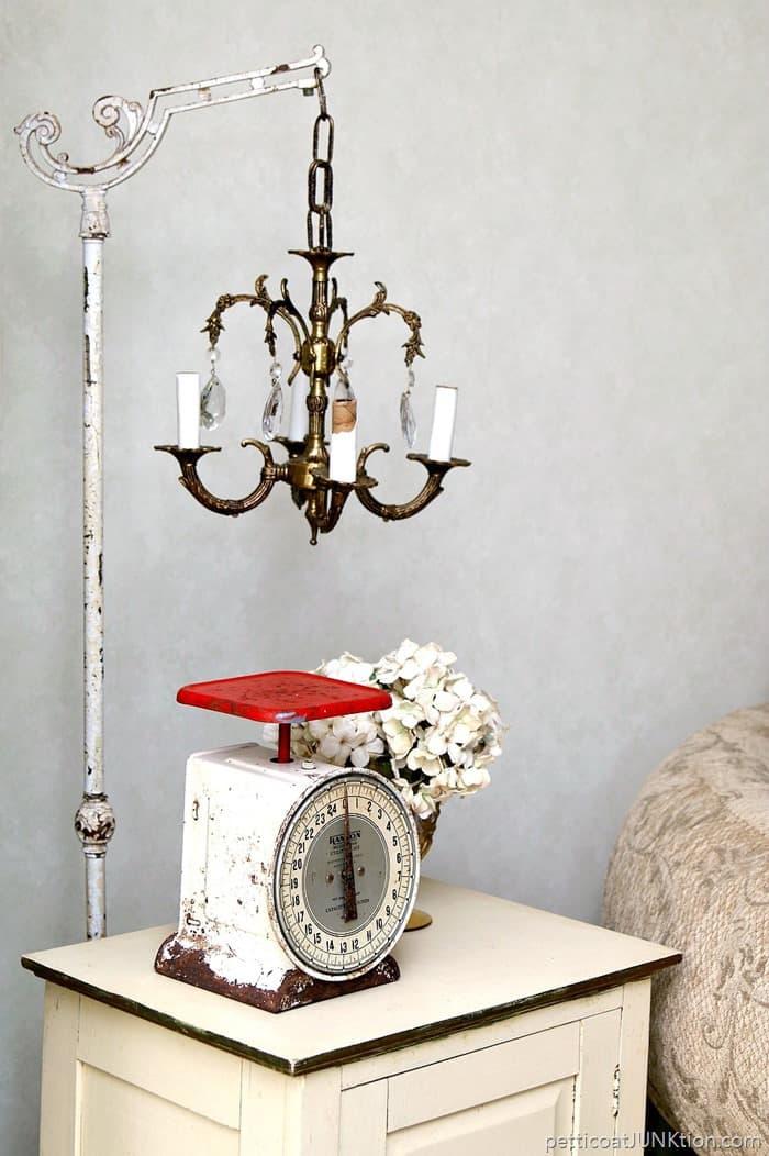 chandelier lamp stand diy
