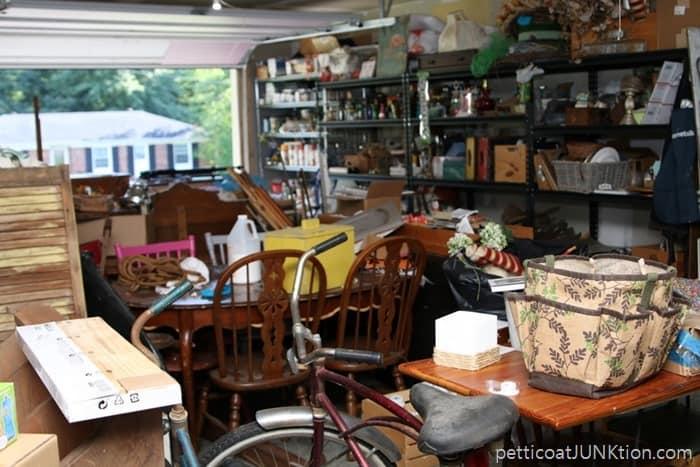 cluttered workshop