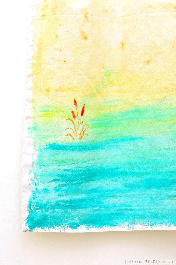 paint a beach scene using watercolor paints from Martha Stewart