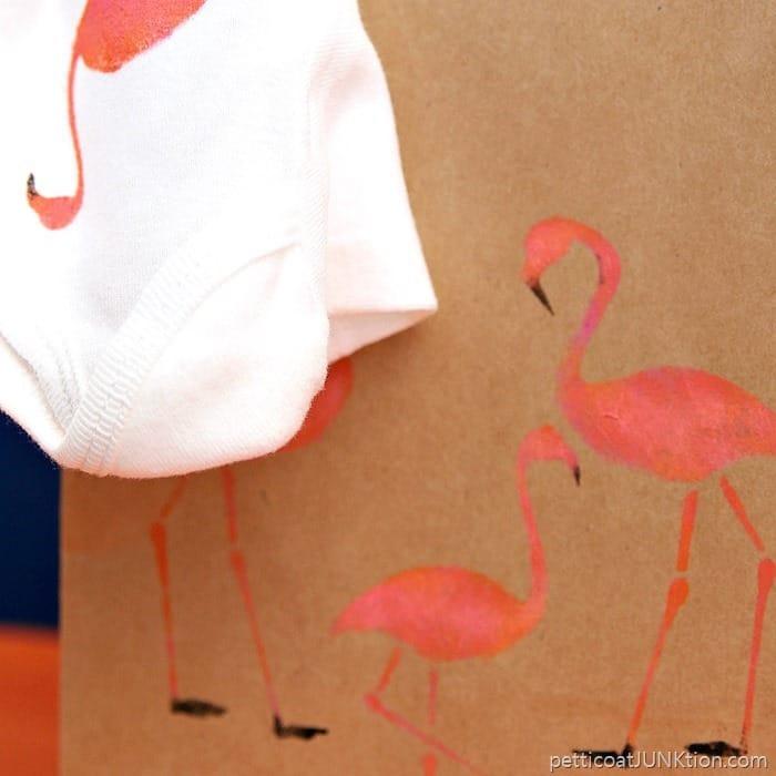 pink flamingo gift set