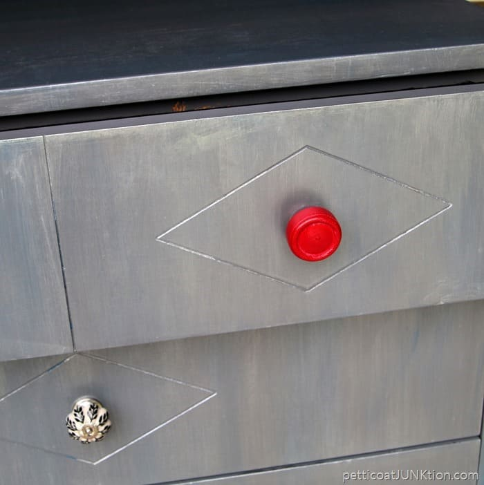 spray painted furniture knobs