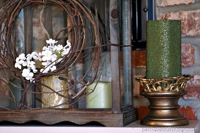 thrifty candle holder makeover