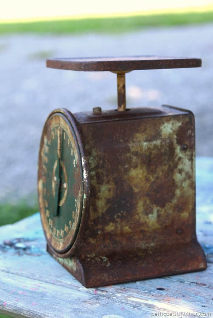 waxing a rusty kitchen scale