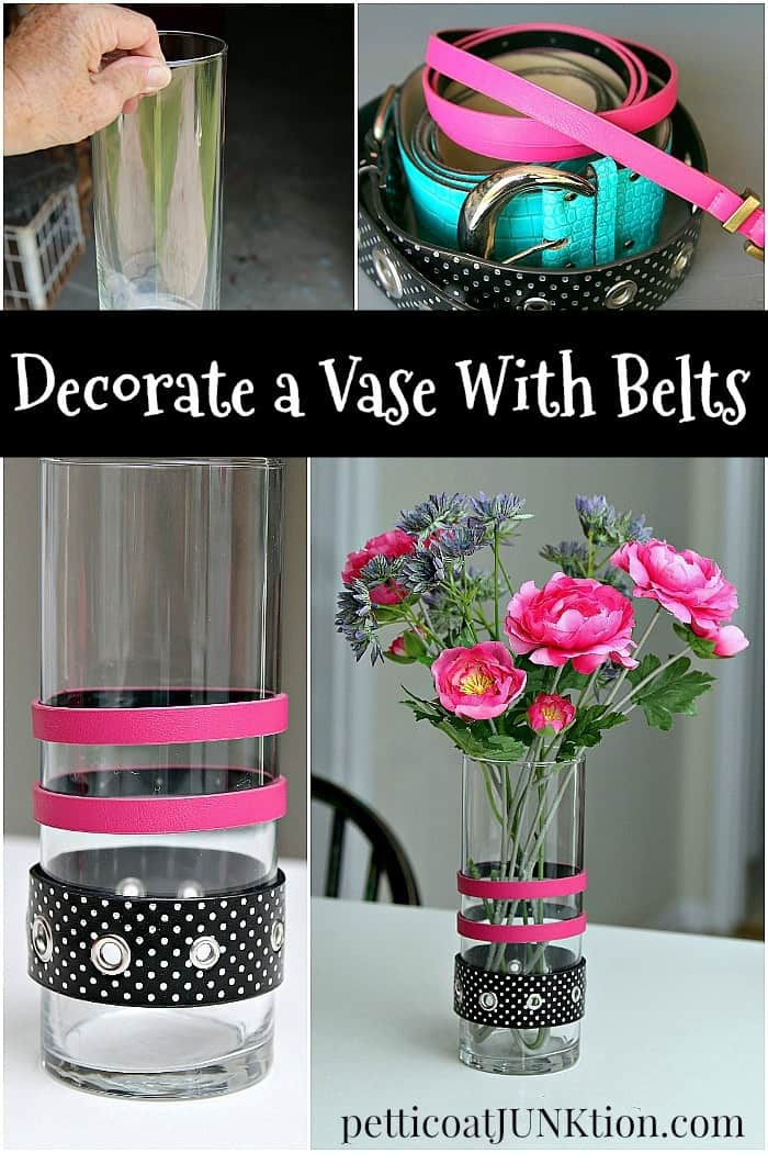 Decorate A Vase With Belts