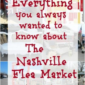 Nashville Flea Market information including dates, times, hours, market layout, shopping tips, etc.