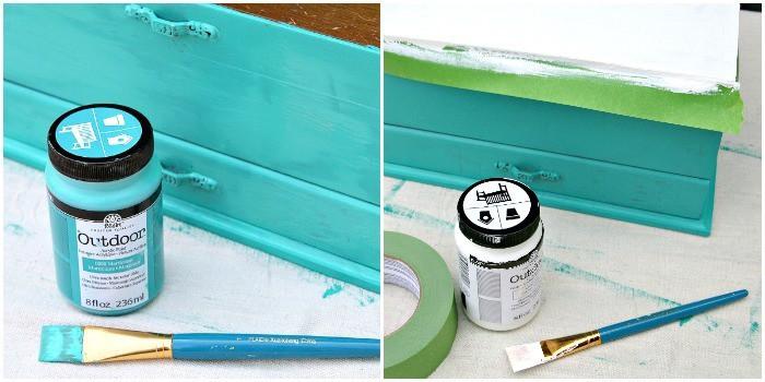 Paint A Tile Stencil Design On Wood