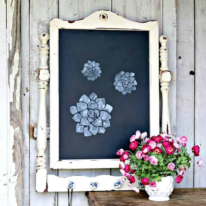 Make A Large Chalkboard Using A Mirror Frame