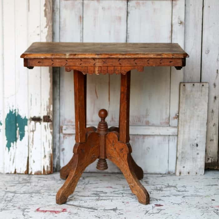 antique table in the Eastlake style
