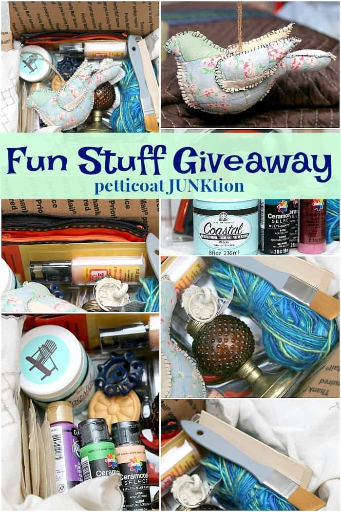 blue bird and other fun stuff giveaway from Petticoat Junktion