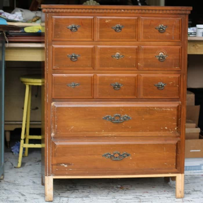 chest of drawers from auction