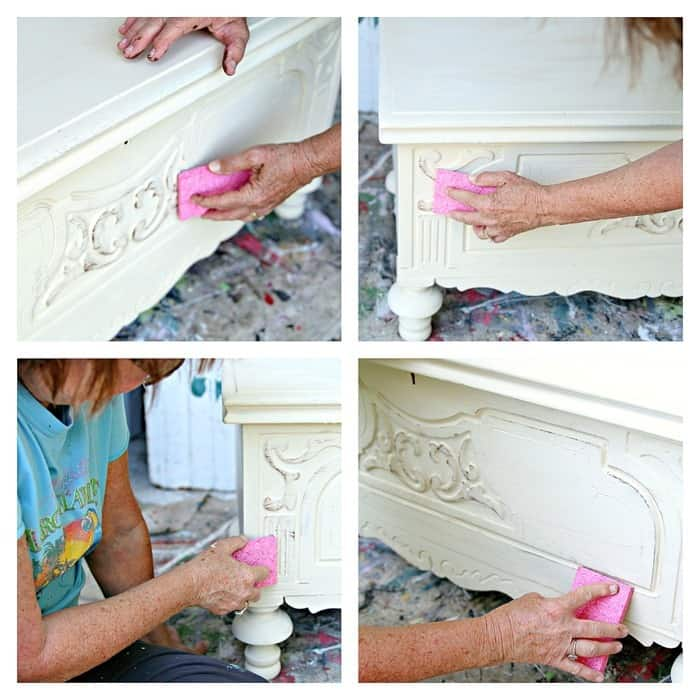 how to antique or age painted furniture
