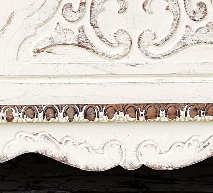 how to antique white paint on antique painted furniture