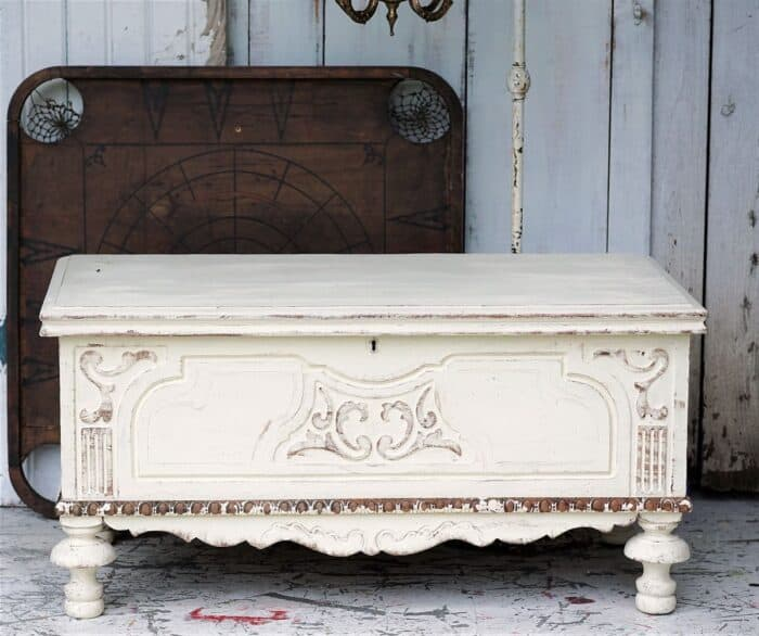 how to distress and age white furniture