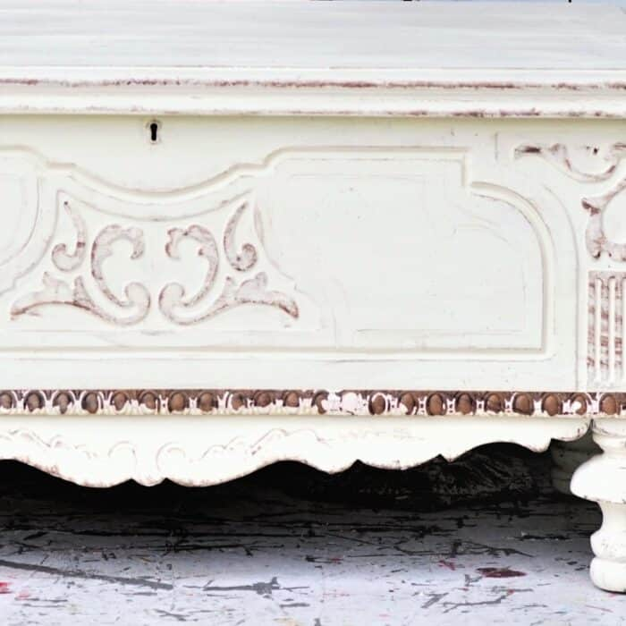 how to use antique trim on furniture