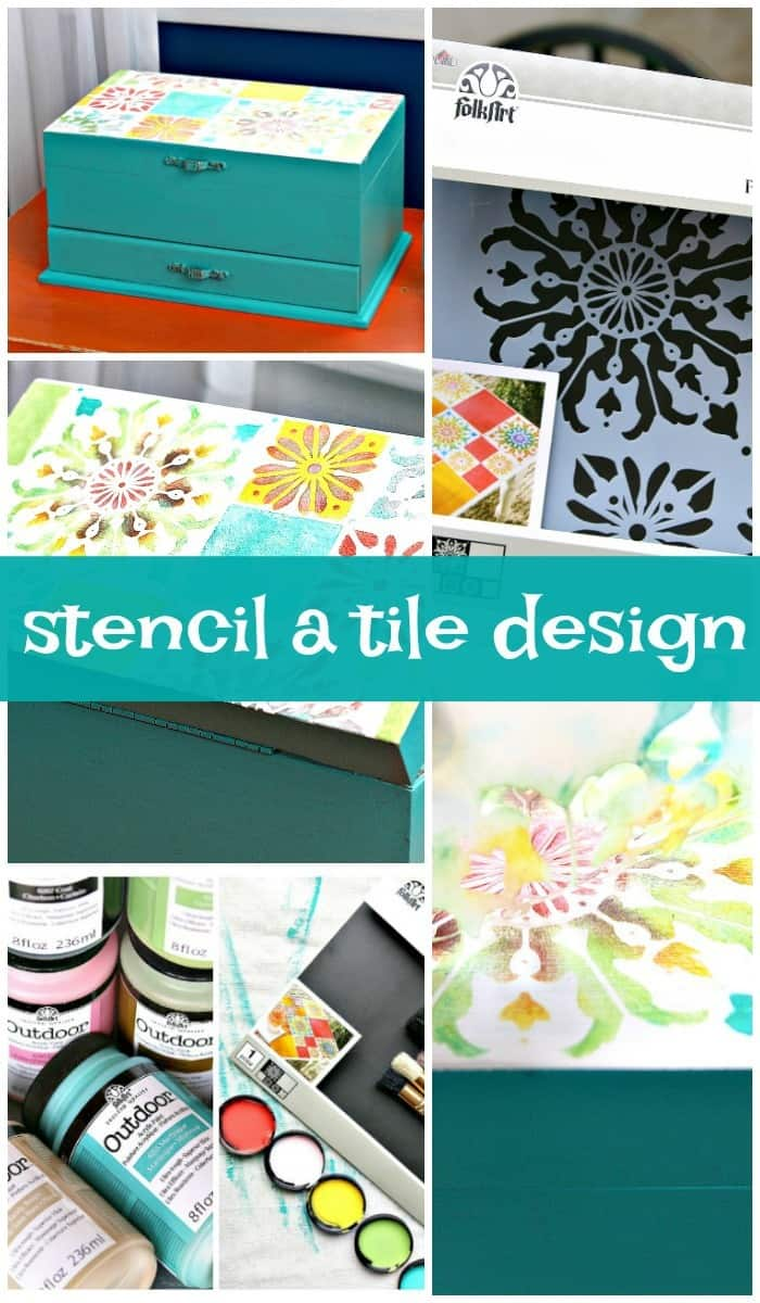 stecncil a tile design