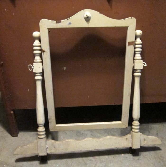 wood mirror frame from an old dresser
