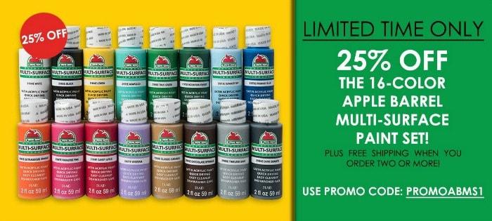 Apple Barrel 16 Color Kit Promotion