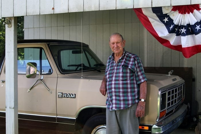 Dad with his Dad's truck