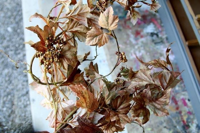 Fall metallic leaf bush