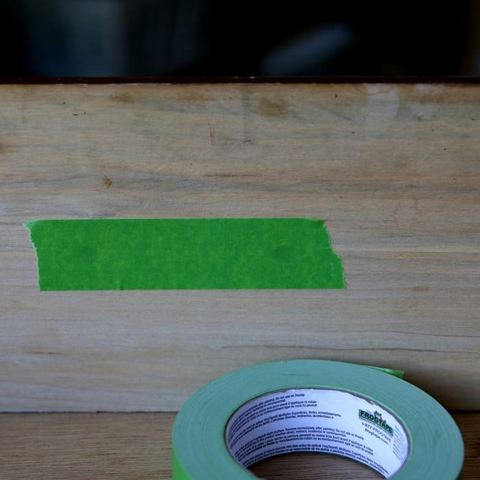 Frogtape to prevent paint from leaking into furniture drawer