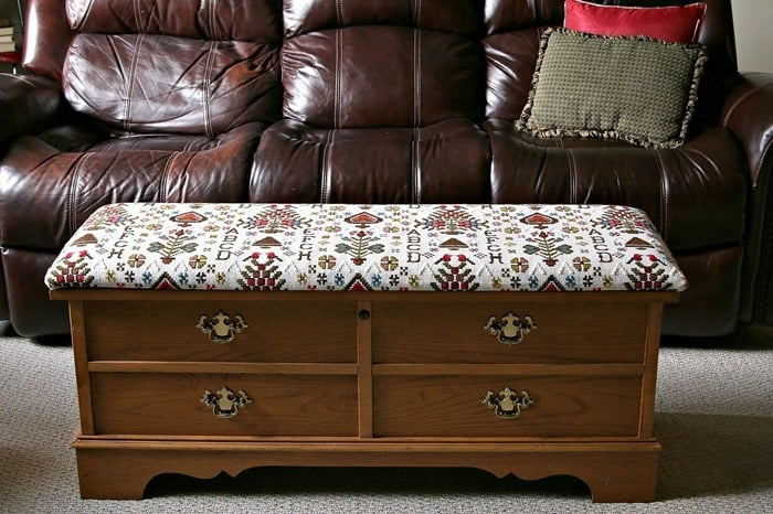 How I Recovered The Seat On My Lane Cedar Chest